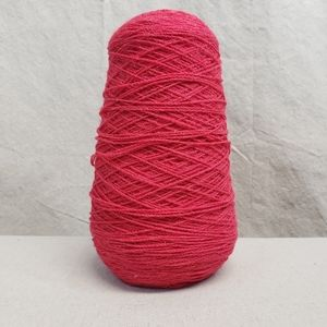 Vintage Acrylic Cone Yarn Hot Pink Knit Crochet